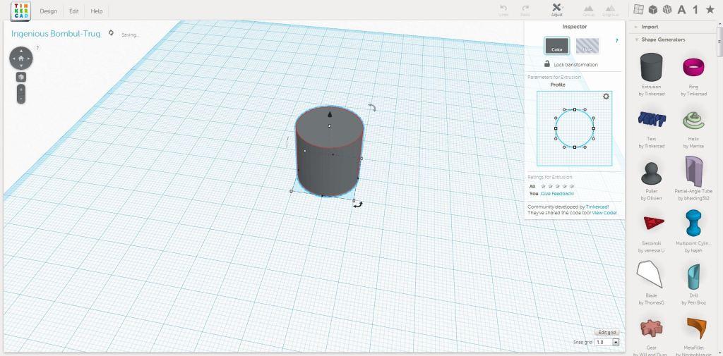 Extrude Shape Generator