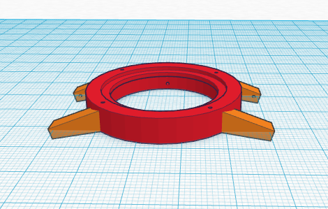 The final version of the 3D printed watch from Tinkercad.