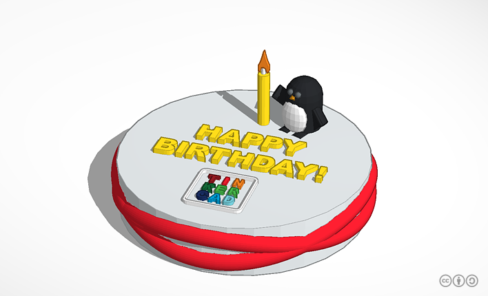 Happy Birthday Tinkercad