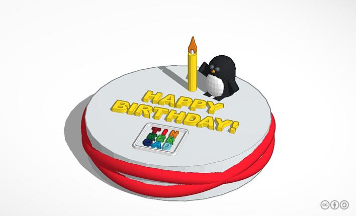 Happy Birthday Tinkercad