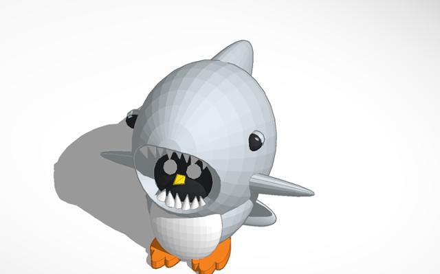shark week, peter penguin, tinkercad