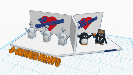 penguin dating game tinkercad valentines day