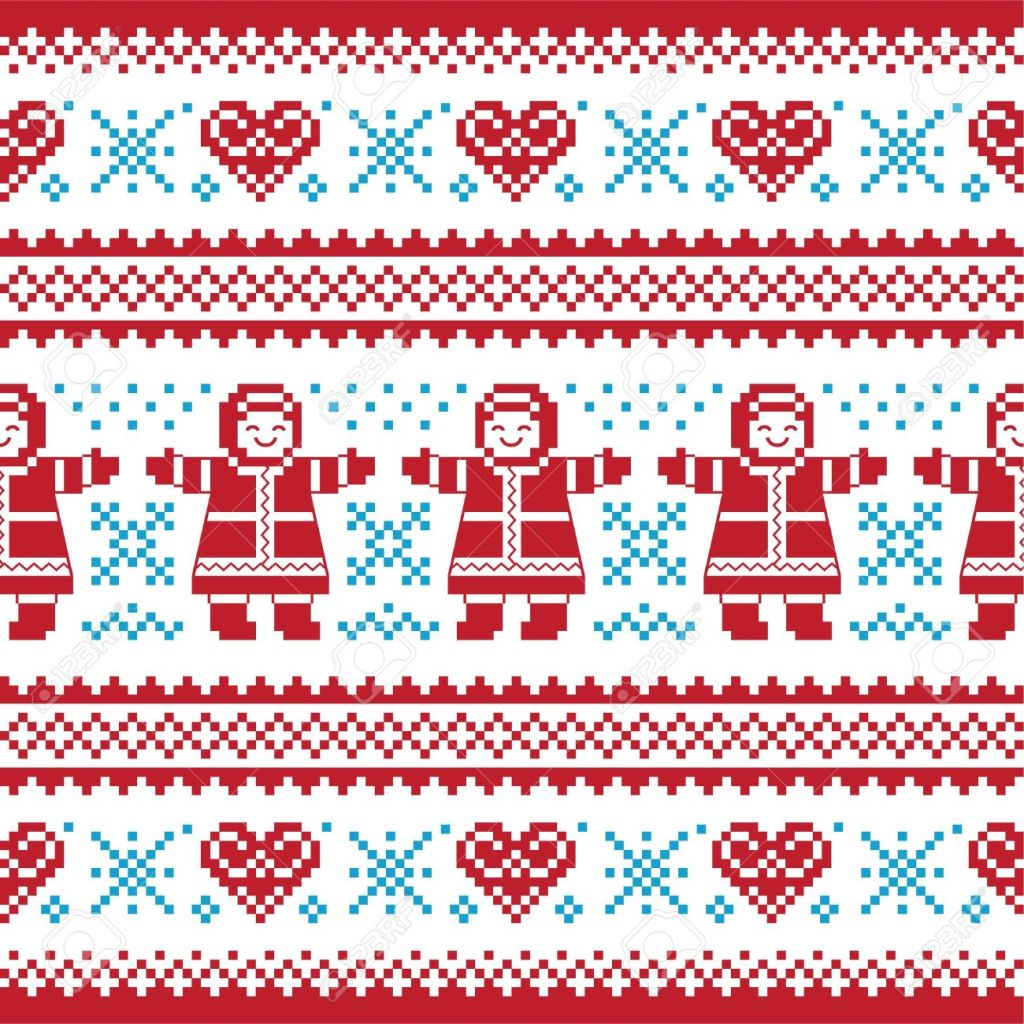 16281126-Christmas-Winter-knitted-pattern-card-scandynavian-sweater-style-Stock-Vector
