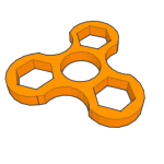 3D design fidget spinner